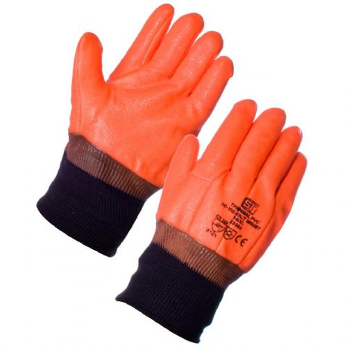 Supertouch Thermal PVC Hi Vis Gloves - 120 Pairs